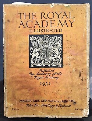 The Royal Academy Illustrated, Antique Magazine, Images, 1932.