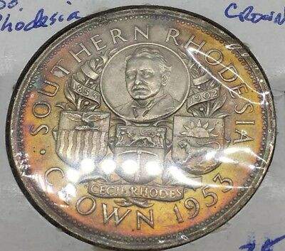 TONED 1953 SOUTH RHODESIA Crown UNCIRCULATED