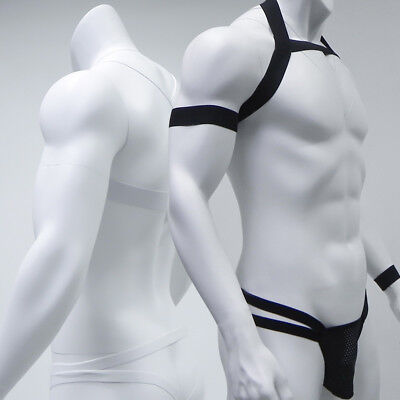 588d6862d Mens Sexy Body Chest Harness G-string Thongs Lingerie Nightclub Male Costume  Set