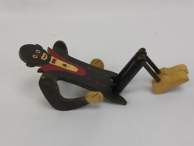 Folk Art Jointed Wood Figure of an African American Butler