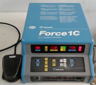 ValleyLab Force 1C Electrosurgical Generator with FootSwitch