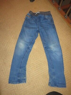 boys boy jeans age 8 years elastic cuff waist next excellent condition