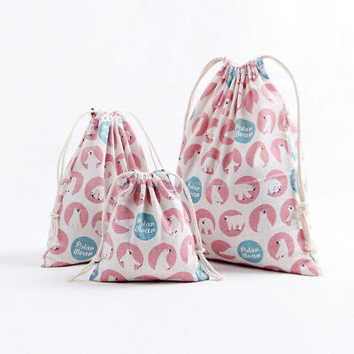Laundry Shoe Clothes Travel Pouch Portable Tote Drawstring Storage Bag Organizer