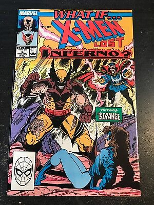 """What If#6 Awesome Condition 8.0(1989) """"X-men Lost Inferno"""" Lim Art!!"""
