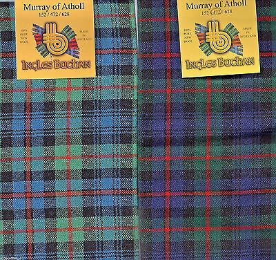 CLANS SCOTLAND MURRAY Of Atholl Anccient 100% Lambs Wool