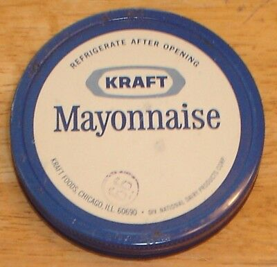 Vintage KRAFT Mayonnaise Tin / Metal Lid for Glass Jar (Lid Only) Country Store
