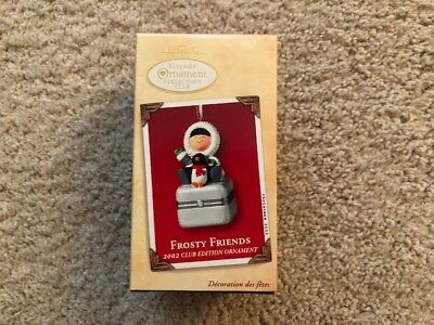2002 Hallmark FROSTY FRIENDS Collectors Club Penguin Box Keepsake Ornament MIB
