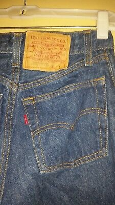 Levi's 26501-0158 Button Fly Blue Jeans, Size 7, Made in the USA
