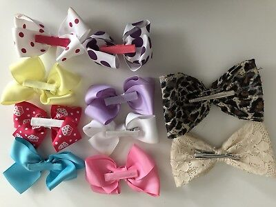 10 Hair Bows For Woman/Girls