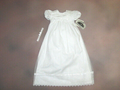 Infant Girls White Christening Dress Size 6 Months