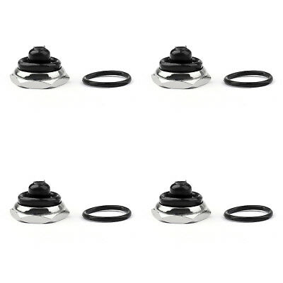 4x Car Toggle Switch Boot 12mm Rubber Waterproof Cover Cap IP67 T700-6 Blk