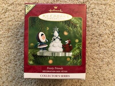 2001 Hallmark Keepsake Ornament Frosty Friends 22nd in Series MIB