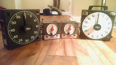 Dark Room Timers (vintage photo lab, 4 units) Time-o-lite & amp GraLab read desc