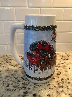 Budweiser Clydesdale Holiday Stein 2009 Edition