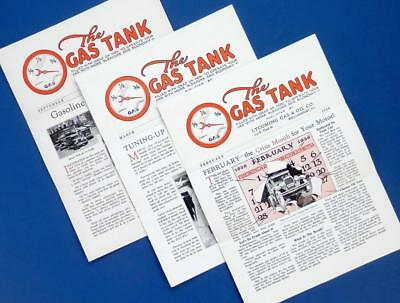 1926 The GAS TANK Texaco Lycoming Gas & Oil newsletters 3 ea