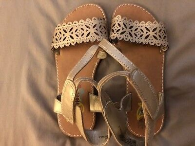 Girls Sandals size 12. Gold with cutouts. Rachel Shoes brand