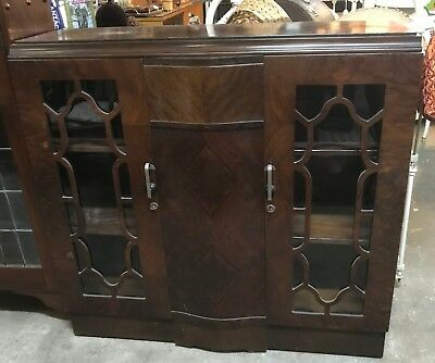 Antique Vintage Art Deco  Sideboard Buffet Display Cabinet