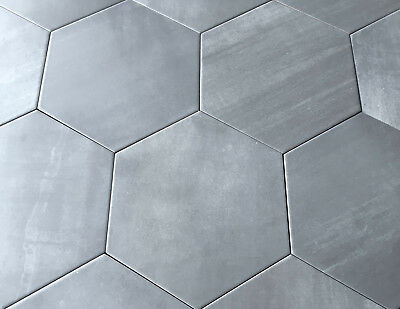 10.2 x11.4 Gray Hexagon Gris Porcelain Tile Floor and Wall (Sold by the piece)