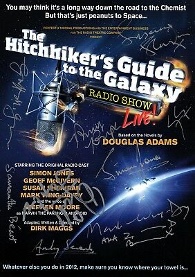 Hitchhikers Guide To The Galaxy - SIGNED Flyer [2012]