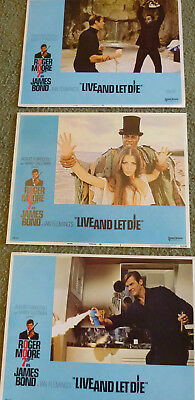 Live And Let Die Roger Moore Original1973 (3) Lobby Cards