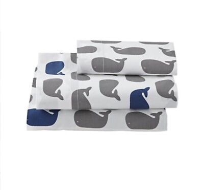 Land Of Nod / Crate And Kids Organic Whale Crib Bedding