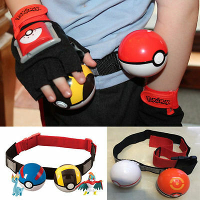 Adjustable Kids Poke Ball Belt Pokemon Clip Carry Toys Gift Pretend Play Game US