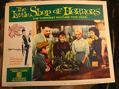 The Little Shop Of Horrors 1960 Filmgroup lobby card Jonathan Haze Jackie Joseph