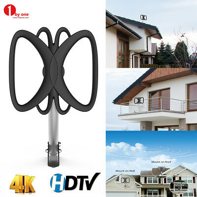1Byone Outdoor HDTV TV Antenna 180 Miles Amplified 360° Reception with Pole New