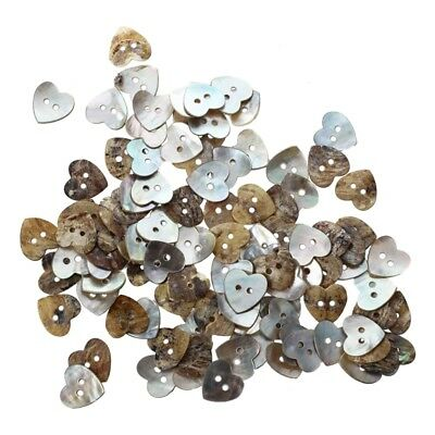 Lot 100 Mother of Pearl Heart Shell Sewing Buttons 15mm HOT P8M1 WI