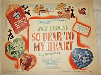 Disney So Dear To My Heart Title Lobby Card - original release