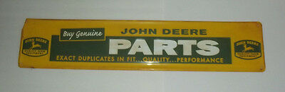 "Very Neat 41 3/4"" X 9"" Metal John Deere Parts Metal Sign"