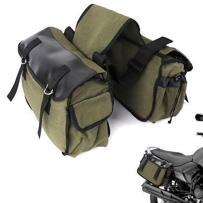 Cycling Canvas Saddlebags Equine Back Pack Canvas Luggage Vintage Bag for Harley