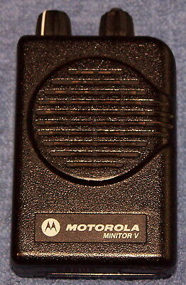 Motorola Minitor V**vhf** 2 Channel Pager W/voice**used**no Charger