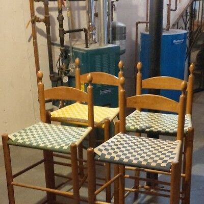 Four Shaker Workshops Weavers Chairs / Counter / Bar Stools