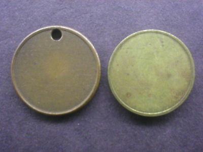 2 Coffee tokens: coffee tree bronze & number 1 brass tokens: no countermarks