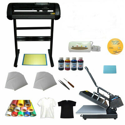 Heat press Machine Vinyl Cutter Printer Ink  Paper T-shirt Transfer Start-up Kit