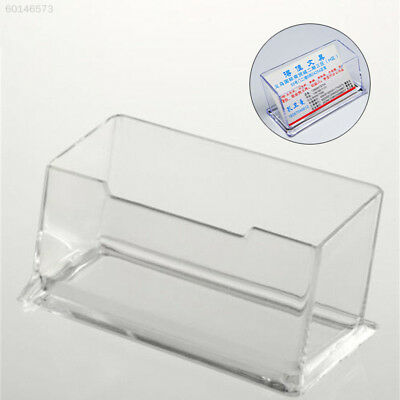 F60A Transparent Desktop Postcards Card Box Boxes Holder Stand Office Display