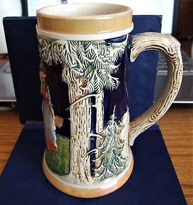 Vintage German Beer Stein Un-Lidded Signed On Bottom Made In Germany 3925