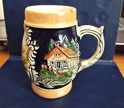 Vintage Mini German Beer Stein #4 Signed On Bottom