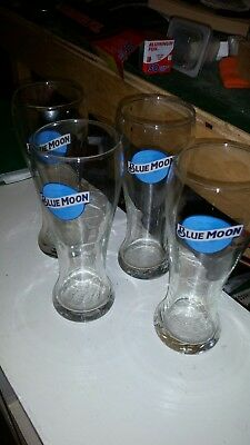 Blue moon beer glasses lot of 4