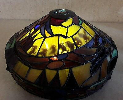 Disney Snow White Stained Glass Shade Retired Broken for Parts