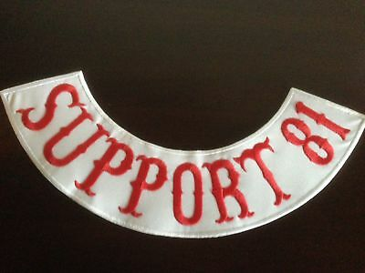 Support 81 Patch Aufnäher-Backpatch ca.40x9cm,MC Kutte Rocker Biker R&W 81