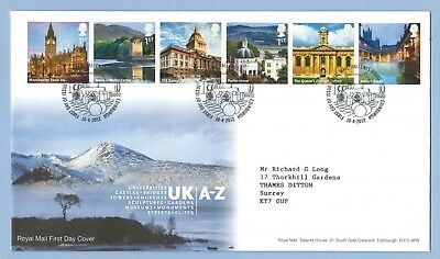GB FDC. UK A-Z.  Stamps M to R.  Postmark - Tallents House 10/4/12. Ref D828
