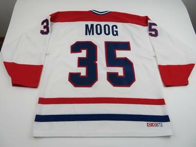 44a0f11a1 Vintage Edmonton Oilers Andy Moog Custom Jersey Signed Autographed XL Auto.   74.99 Buy It Now 15d 16h. See Details. Vtg 90s CCM Mens Andy Moog Montreal  ...