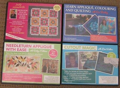 4 X Dvds - Applique And Quilting - Quilters Companion - *see Detailed Listing