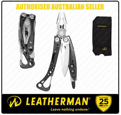 Leatherman SKELETOOL CX Stainless MultiTool +Sheath + Swiss Card Lite Blue