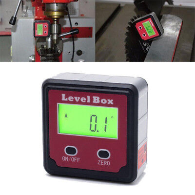 Digital Inclinometer Spirit Level Box Protractor Angle Finder Gauge Bevel Meter~