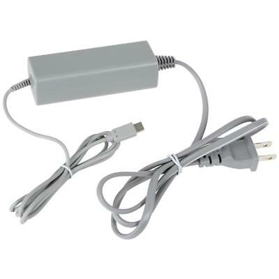 Grey US Plug Charger Power Supply Adapter AC for Nintendo Wii U Console Gamepad