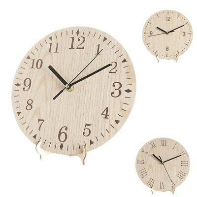 """Large 14 """" Wooden Wall Clock Vintage Round Retro Home Decor Watch decorative"""