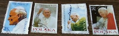 4 Polska Postal Stamps Collection - Pope John Paul II